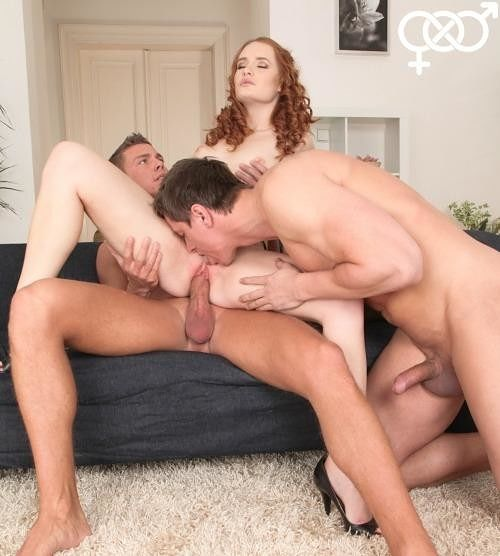 Friends catch roommate watching bi porn leading to bisexual fun